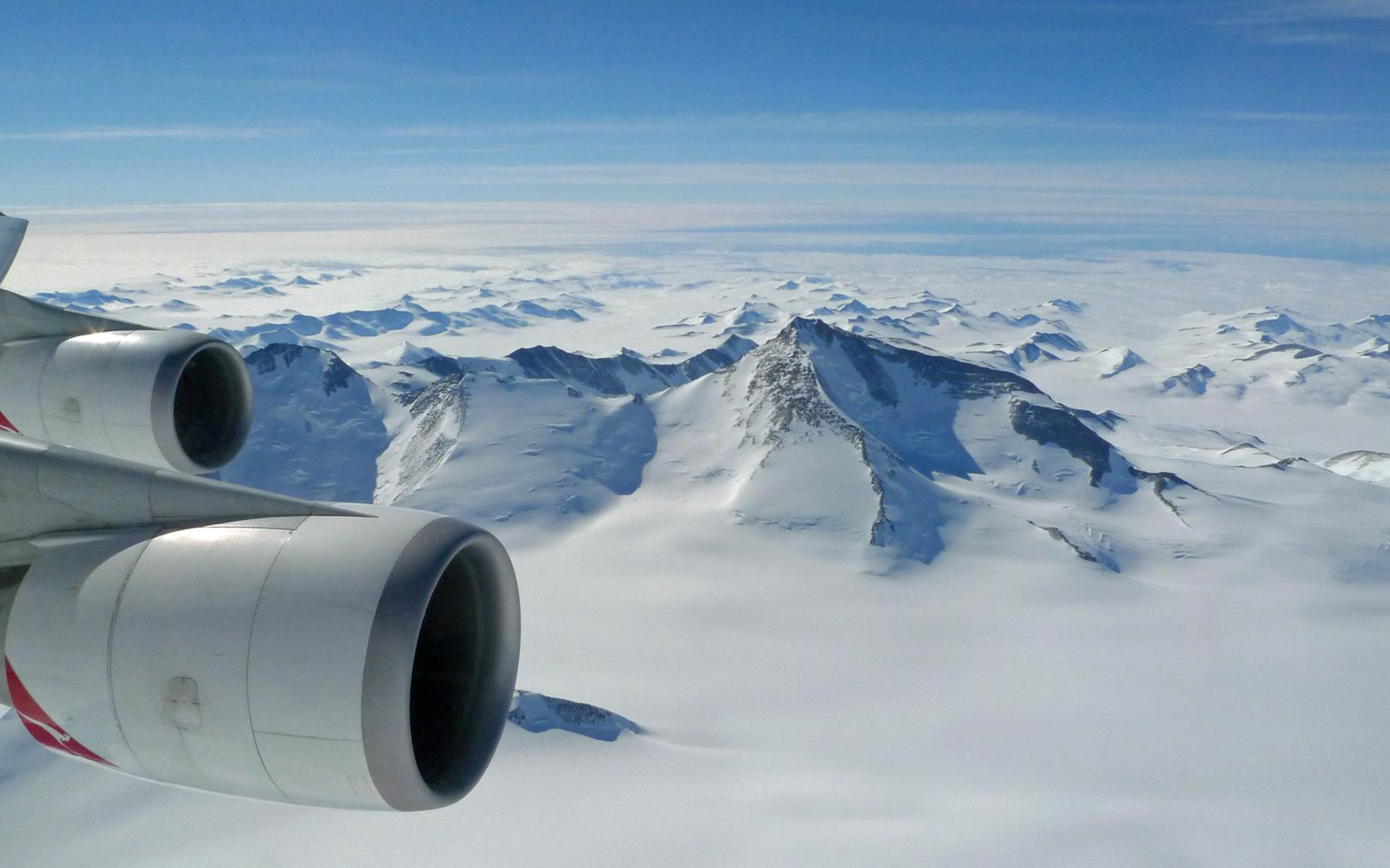 Antarktis-Überflug ex Australien