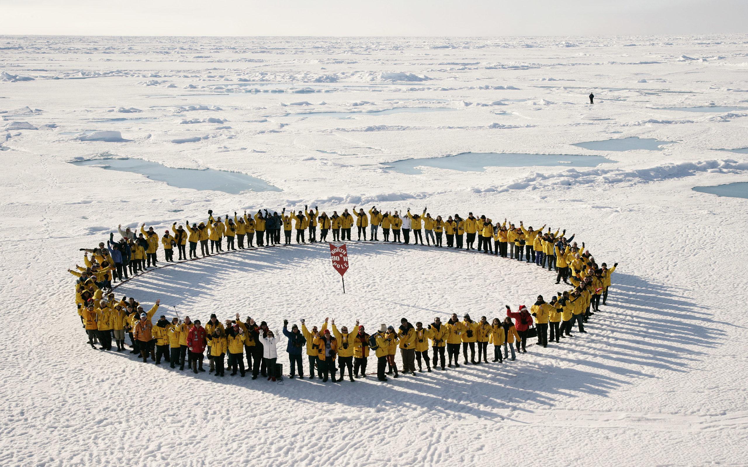 Geografischer Nordpol (per Schiff oder Flug)